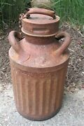 Antique Embossed Atlantic Refining Oil Co. 5 Gal Sign Tool Can Gas Station Tool