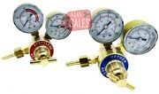 Solid Brass Oxygen And Acetylene Regulators 4 Welding Fit Victor Gas Torch Cutting