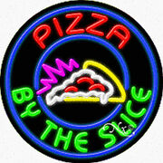 """Brand New """"pizza By The Slice 26x26x3 Real Neon Sign W/custom Options 11335"""