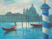 Listed American Artist Nino Pippa Painting Of Venice The Grand Canal Coa18 X24
