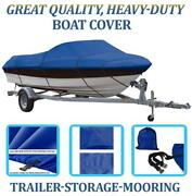 Blue Boat Cover Fits Javelin 356 Sc With Port Troll Mtr O/b 1990 1991 1992