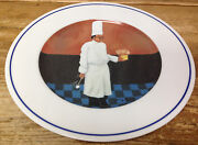 Williams Sonoma Chef Albert Series Guy Buffet 1 Dinner Plate Pastry Spoon Blue