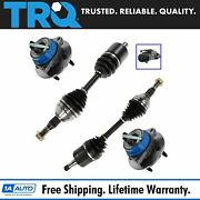 Trq 4 Pc Front Steering Suspension Kit Set Cv Axles Hub Assemblies For Gm New