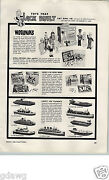 1955 Paper Ad Toy Woodniks Robot Robots Soldiers Outboard Motor Boat Tug