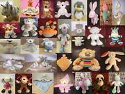 Mothercare Baby Comforter Rattle Chime Soft Toys Animals