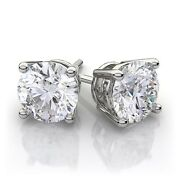 .74ct Canadian Diamond Earrings White Gold Eco Harmony Free Fedex 2 Day Shipping