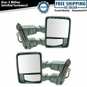 Mirror Power Folding Telescoping Heat Signal Clearance Chrome Tow Pair For Ford