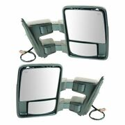Mirror Power Folding Telescoping Heat Signal Clearance Smooth Tow Pair For Ford