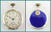 Red Cross - Vintage Ladies Omega Solid Silver Pocket Watch 35mm - 1914's