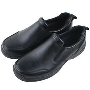 Wako Mens Leather Chef Shoes Kitchen Nonslip Shoes Safety Shoes Oil Water Proof