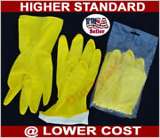 144 Pair Household Rubber Latex Clean Etc Multi Purpose Yellow Gloves S, M, L,xl