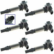 Delphi Gn10309 Ignition Coils Cop Set Of 6 For Buick Cadillac Chevy Gmc Saab New