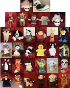 Various Soft Toy Hand Puppet Animals And Characters