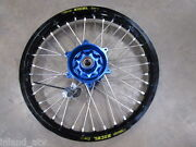 2006 And Up Kx450f Kx 450f Rear Black Excel Wheel With Blue Tcr Hub