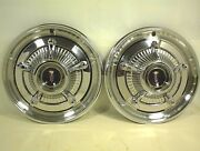 1966 Plymouth Hubcaps 66 Mopar Wheel Covers Chrome Nuts
