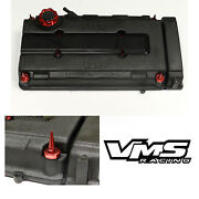 Vms Red Engine Dress Up Kit B16 B18 Valve Cover Insert Washer Seal Spike Nut