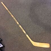 1976-77 Pittsburgh Penguins Team Signed Faubert Game Stick Apps Kelly Pronovost