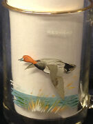 Ned Smith Pintail And Redhead Ducks Clear Glass Mug Cup Gold Trim Flying 16 Z Bird