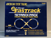 Lionel American Flyer Fastrack Figure 8 Add On Track Pack S Gauge 6-49889 New