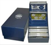Whitman Blue Felt Lined Storage Box For 20 He Harris 2x3 Frosty Cases Case