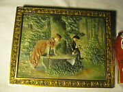Antique Bradley And Hubbard Scenic Park Cast Iron Garden Wall Art Plaque Charger