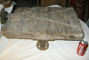 Antique Industrial Steampunk Cast Iron Castor Wheel Table Trolley Cart Stand Usa