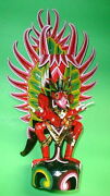 Garuda Bali Handmade Wood Carving From Indonesia 24 Size Red Unique