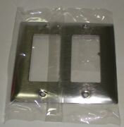 20 Pcs Decora Decorator Switch Outlet Gfci Plate Smooth Stainless Sl-262 2-gang