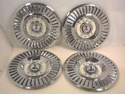 Vintage 1957 Ford Thunderbird Hubcaps 14 Wheel Cover Usa Oem T-bird Bird Fomoco