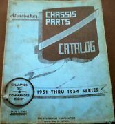 1951 1952 1953 1954 Studebaker Champion Commander Chassis Parts Catalog Book 6 8