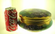 Rare Limoges L.a. Utley Large Hand Painted Dresser Box - Nice Condition -b.offer