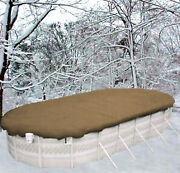 15'x30' Oval Above Groundheaviesttan Winter Swimming Pool Solid Cover 25 Yr