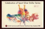 1990 New Zealand Four Coin Proof Silver Set Xivth Commonwealth Games Sport