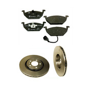 2 Brembo Front Brake Disc Rotors Ate Pad Set Kit For Cars W/ 280 Mm Disc For Vw