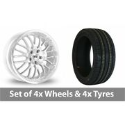 4 X 18 Bk Racing 866 Silver Alloy Wheel Rims And Tyres - 255/45/18