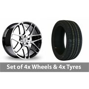 4 X 20 Bk Racing 170 Black Polished Alloy Wheel Rims And Tyres - 255/40/20