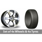 4 X 20 Dare Outlaw Black Polished Alloy Wheel Rims And Tyres - 275/45/20
