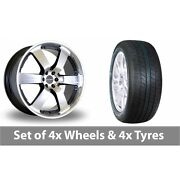 4 X 20 Dare Outlaw Black Polished Alloy Wheel Rims And Tyres - 265/50/20