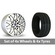 4 X 19 Dare Lg2 Silver Polished Alloy Wheel Rims And Tyres - 225/35/19