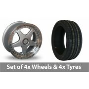 4 X 18 Dare F5 Silver Alloy Wheel Rims And Tyres - 235/50/18