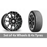 4 X 19 Speedline Cesare Black Polished Alloy Wheel Rims And Tyres - 255/45/19