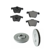 2 Meyle Front Rotors Opparts Brake Pad Set Kit For Cars W/ 336 Mm Disc For Volvo