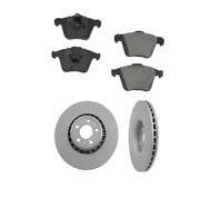 2 Zimmermann Front Rotors Opparts Brake Pad Kit For Cars W/ 336mm Disc For Volvo