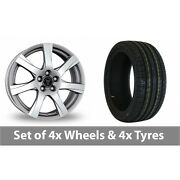 4 X 16 Wolfrace Twister Shadow Chrome Alloy Wheel Rims And Tyres - 225/45/16