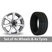 4 X 18 Wolfrace Twister Shadow Chrome Alloy Wheel Rims And Tyres - 255/45/18