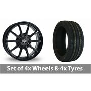 4 X 18 Wolfrace Pro-lite Eco 2 0 Black Alloy Wheel Rims And Tyres - 255/45/18