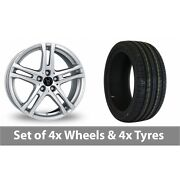 4 X 18 Wolfrace Bavaro Silver Alloy Wheel Rims And Tyres - 245/45/18