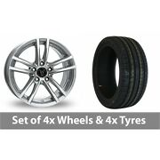 4 X 18 Wolfrace X10 Silver Alloy Wheel Rims And Tyres - 245/45/18