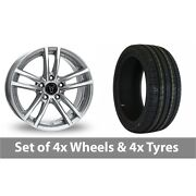 4 X 18 Wolfrace X10 Silver Alloy Wheel Rims And Tyres - 245/50/18