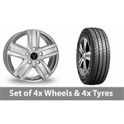 4 X 16 Wolfrace Tp5 Silver Alloy Wheel Rims And Tyres - 215/75/16
